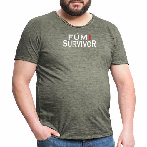 FÜM 1 Survivor - Lustige Wiener Jusstudenten - Männer Vintage T-Shirt