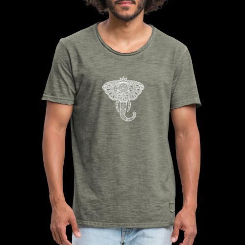 Henna elephant - Men's Vintage T-Shirt