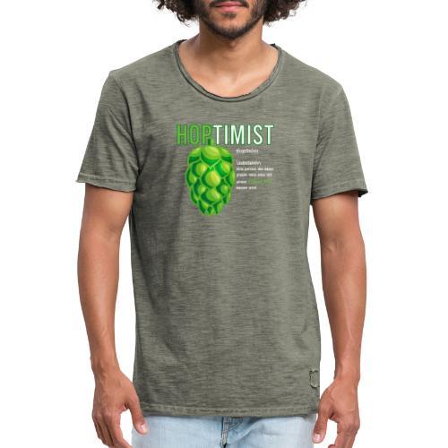 Hoptimist Bierliebhaber Lustiges geschenk für Bier - Männer Vintage T-Shirt