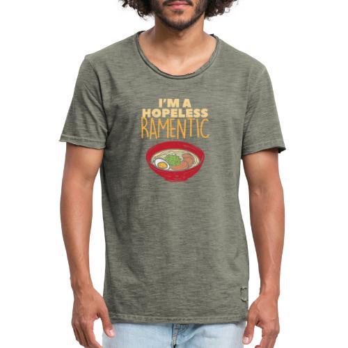 Ich bin hoffnungslos Ramentisch - Männer Vintage T-Shirt