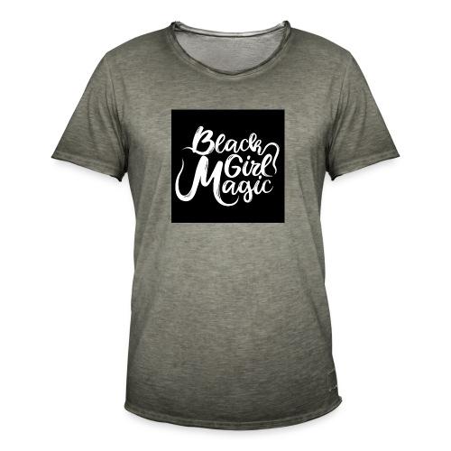 Black Girl Magic 1 White Text - Men's Vintage T-Shirt