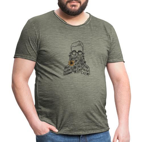 UPRAWIAM OSIĘDBANIE, NIE NARCYZM - KOLOR - Koszulka męska vintage