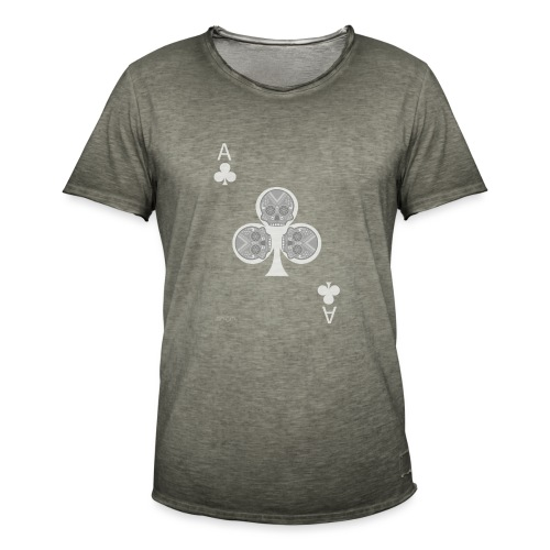 Ace of clubs -gray version- The skulls players - T-shirt vintage Homme