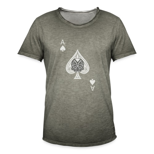 Ace of spades -gray version- The Skulls Players - T-shirt vintage Homme