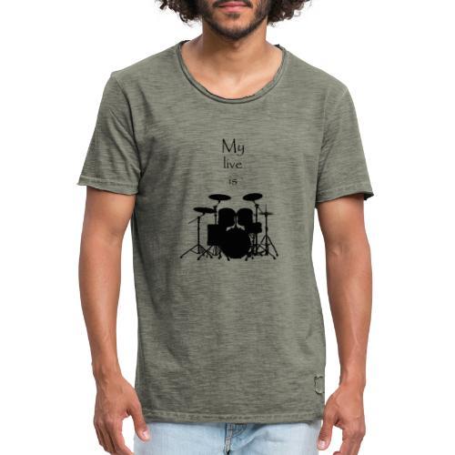 mylifeisdrums - T-shirt vintage Homme