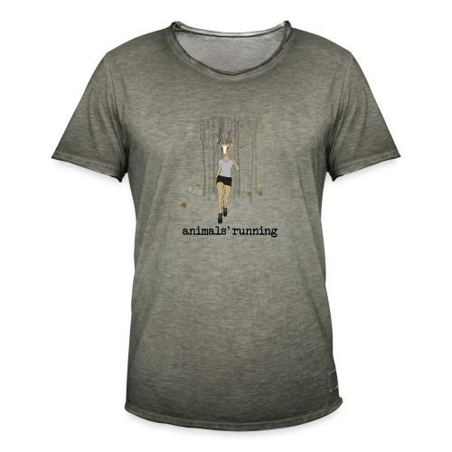 Antilope running - T-shirt vintage Homme