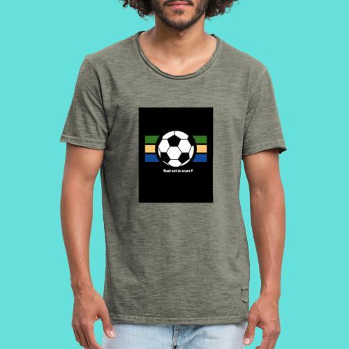 Quel est le score - T-shirt vintage Homme