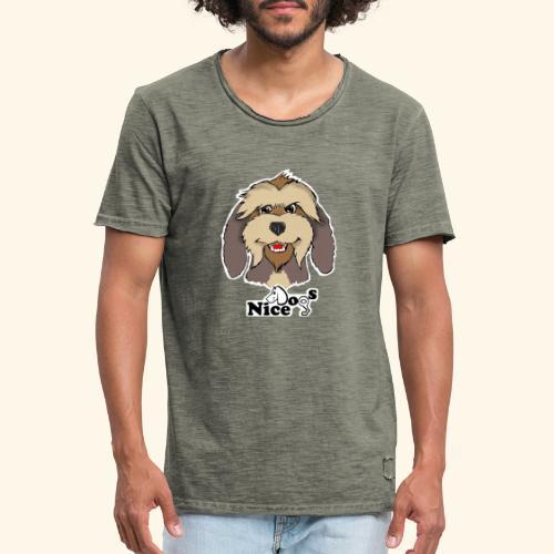 Nice Dogs Pastore Catalano - Maglietta vintage da uomo