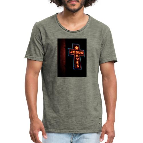 Jesus Saves - Men's Vintage T-Shirt