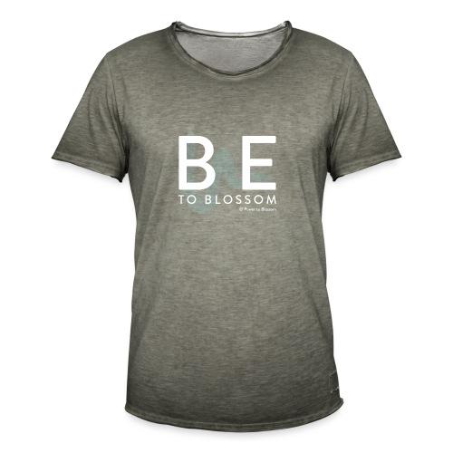 be to blossom swoosh (white) - Men's Vintage T-Shirt