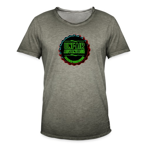 UFAV Back and Green Logo - Men's Vintage T-Shirt