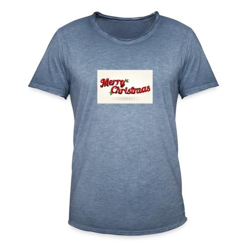 merry christmas design - Mannen Vintage T-shirt