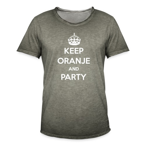 KEEP ORANJE AND PARTY - Mannen Vintage T-shirt