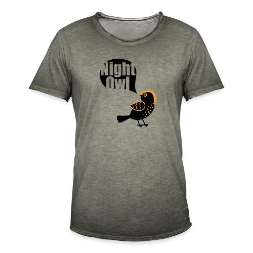 Night Owl - Mannen Vintage T-shirt