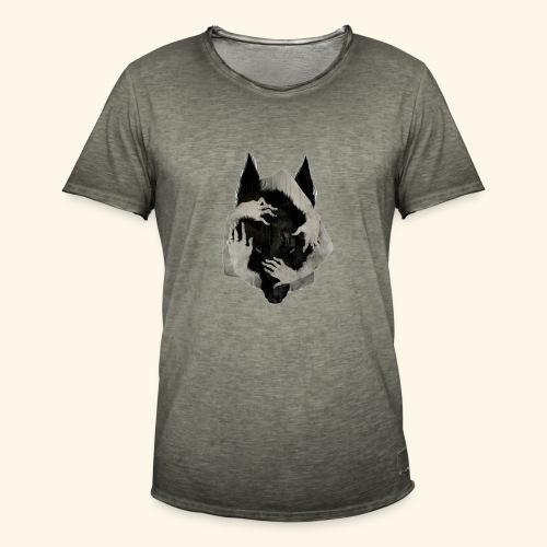 Lobo DANTERS. - Camiseta vintage hombre