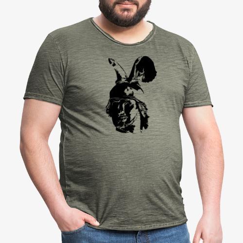 Kopf des Hermannsdenkmals - einfarbig, schlicht - Männer Vintage T-Shirt