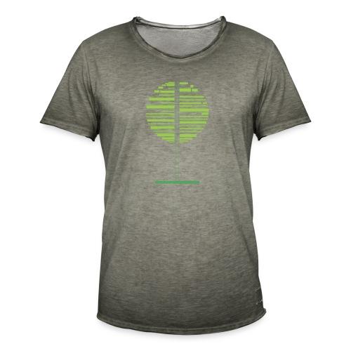 Zielone drzewo - Koszulka męska vintage