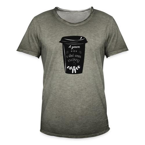 Coffee - Maglietta vintage da uomo