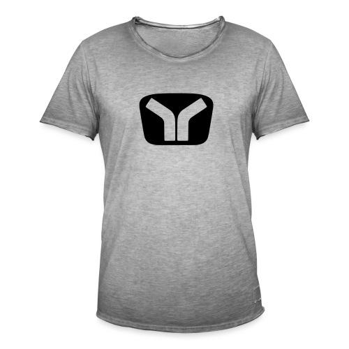 Yugo Logo Black-Transparent Design - Men's Vintage T-Shirt