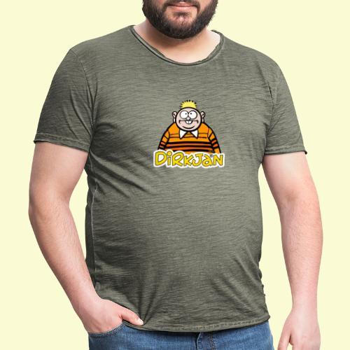 DirkjanHalfLogo - Mannen Vintage T-shirt