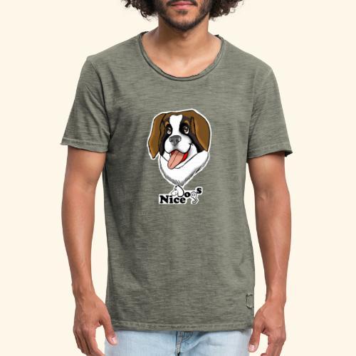 Nice Dogs san bernardo - Maglietta vintage da uomo