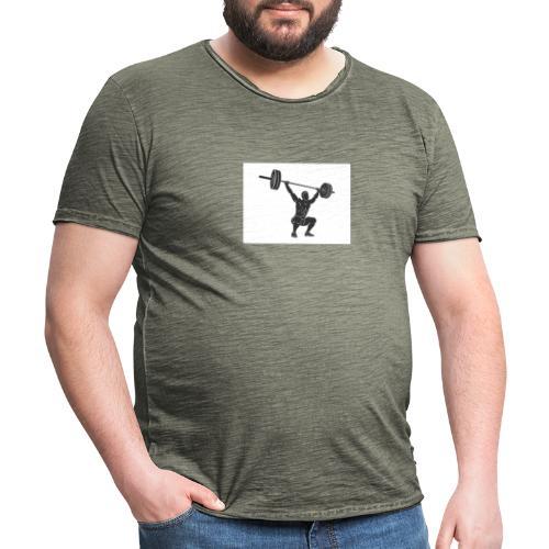 Gewichtheber aufdruck - Männer Vintage T-Shirt