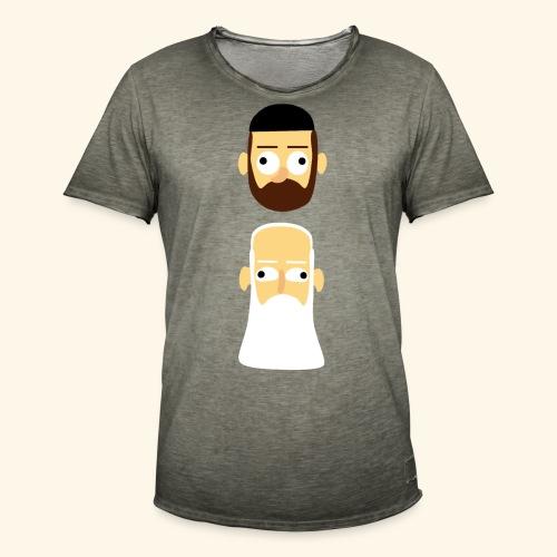 Stille Willem en Leipe Leo - Mannen Vintage T-shirt