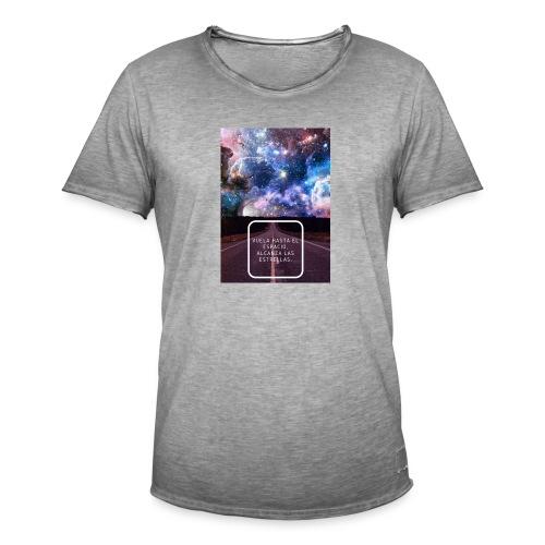Vuela hasta el espacio - Camiseta vintage hombre