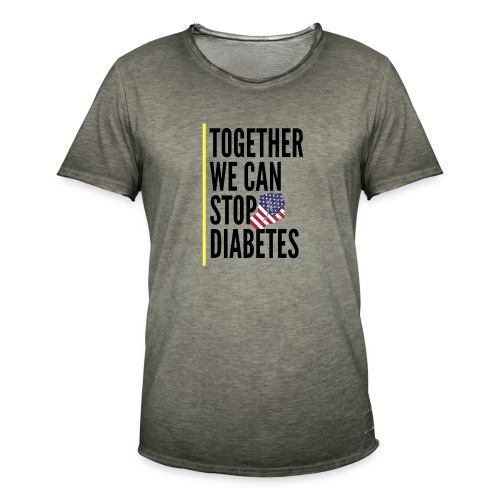 Together We Can Stop Diabetes world diabetes day - T-shirt vintage Homme