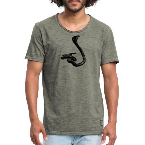 serpiente - Camiseta vintage hombre