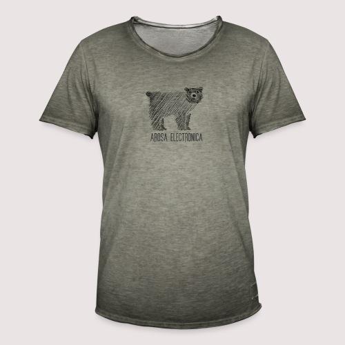Bär Schwarz - Männer Vintage T-Shirt
