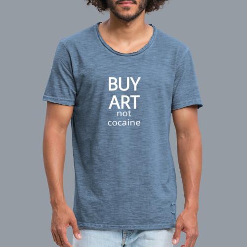 BUY ART NOT COCAINE (blanco) - Camiseta vintage hombre