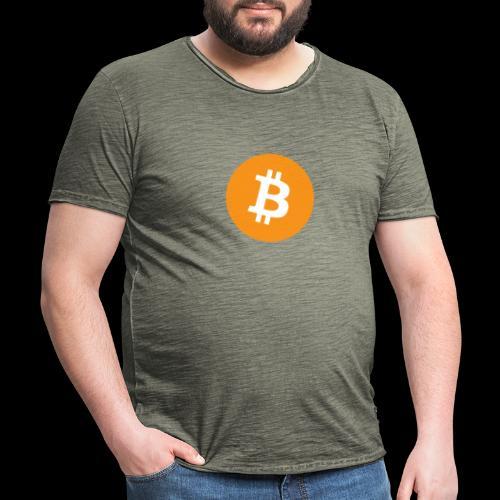 bitcoin logo - Männer Vintage T-Shirt