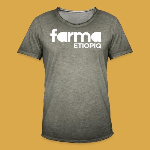Farma Etiopiq straight logo - Vintage-T-shirt herr