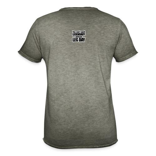 LEG DAY - Vintage-T-shirt herr