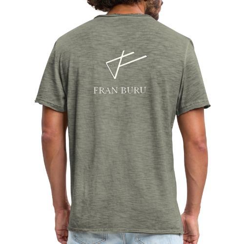 fran buru blanco - Camiseta vintage hombre