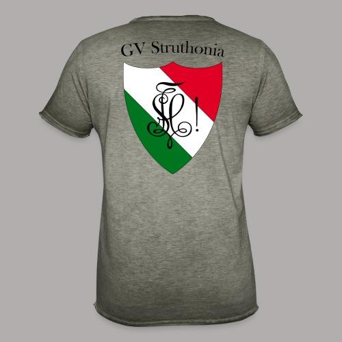 Wappen Struthonia beschriftet - Männer Vintage T-Shirt