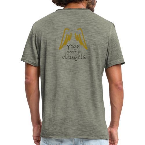yoga vleugels - Mannen Vintage T-shirt