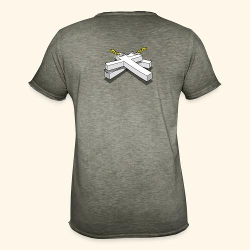 Gold Crosses - Maglietta vintage da uomo