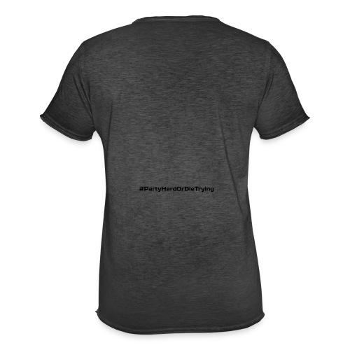 party hard or die trying - Vintage-T-skjorte for menn