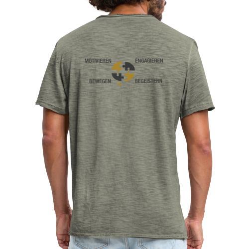 Ein Puzzel setzt sich zusammen - Männer Vintage T-Shirt