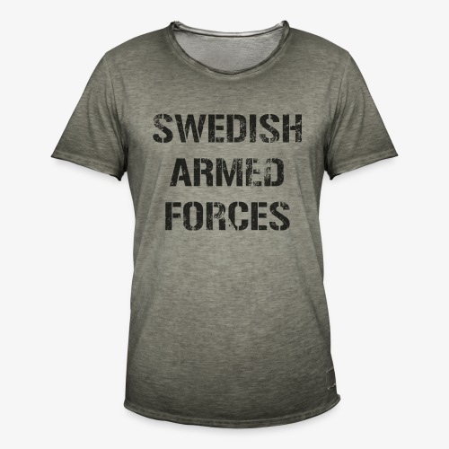 SWEDISH ARMED FORCES Rugged + SWE Flag - Vintage-T-shirt herr
