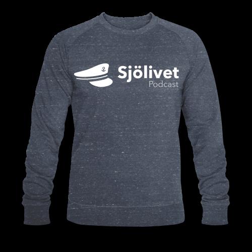 Sjölivet podcast - Vit logotyp - Ekologisk sweatshirt herr från Stanley & Stella