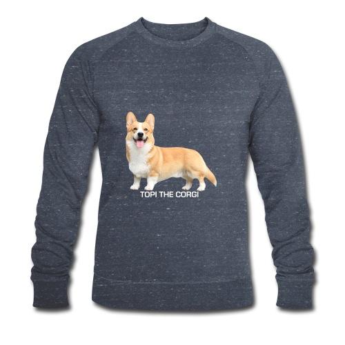 Topi the Corgi - White text - Men's Organic Sweatshirt by Stanley & Stella