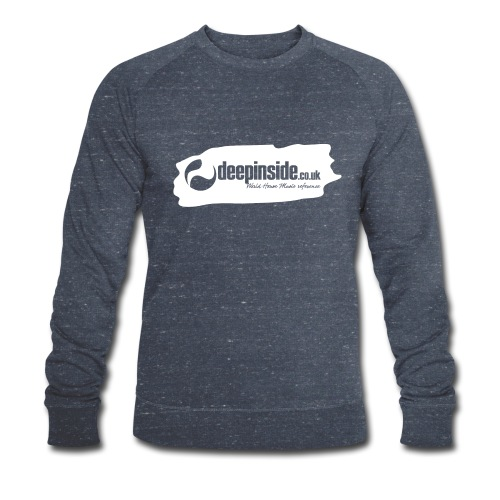 deepinside world reference marker logo white - Men's Organic Sweatshirt by Stanley & Stella