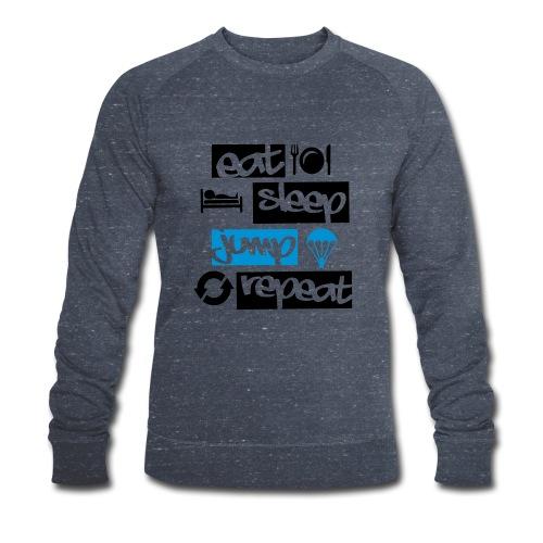 Eat Sleep Jump Repeat - Männer Bio-Sweatshirt von Stanley & Stella