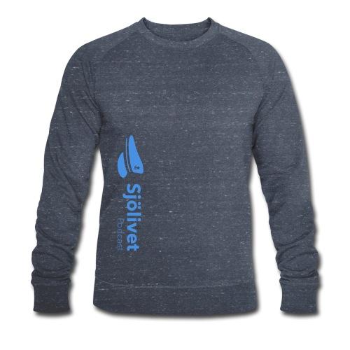 Sjölivet podcast - Svart logotyp - Ekologisk sweatshirt herr
