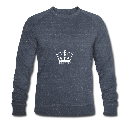 White Lovedesh Crown, Ethical Luxury - With Heart - Men's Organic Sweatshirt by Stanley & Stella