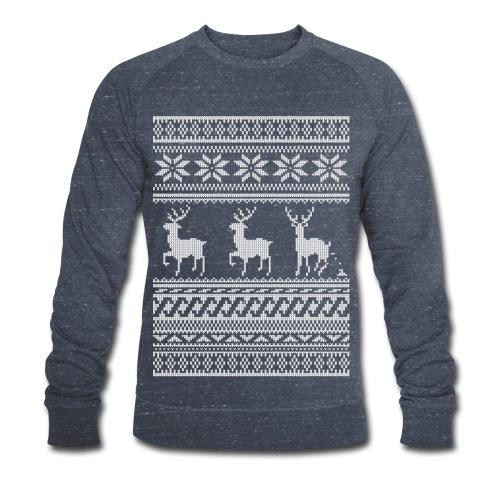Ugly Christmas Sweater Rentier Muster (lustig) - Männer Bio-Sweatshirt von Stanley & Stella