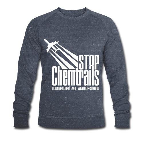STOP CHEMTRAILS - white print - Mannen bio sweatshirt van Stanley & Stella